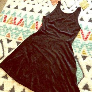 Black velvet skater dress 😍